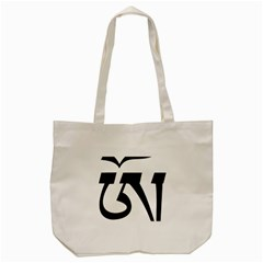 Tibetan Om Symbol (black) Tote Bag (cream)