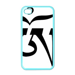 Tibetan Om Symbol (black) Apple Iphone 4 Case (color) by abbeyz71