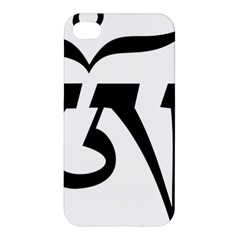 Tibetan Om Symbol (black) Apple Iphone 4/4s Premium Hardshell Case by abbeyz71