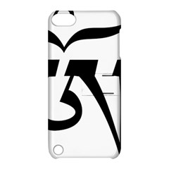 Tibetan Om Symbol (black) Apple Ipod Touch 5 Hardshell Case With Stand by abbeyz71