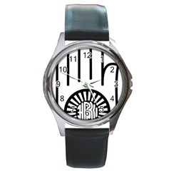 Janism Ahimsa Symbol  Round Metal Watch by abbeyz71