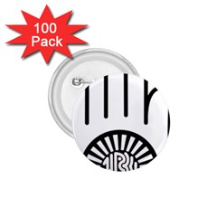 Janism Ahimsa Symbol  1 75  Buttons (100 Pack)