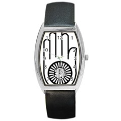 Janism Ahimsa Symbol  Barrel Style Metal Watch by abbeyz71
