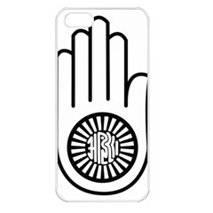 Janism Ahimsa Symbol  Apple Iphone 5 Seamless Case (white) by abbeyz71