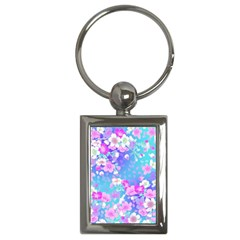 Flowers Cute Pattern Key Chains (rectangle)  by Nexatart