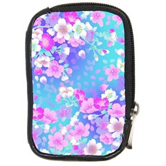 Flowers Cute Pattern Compact Camera Cases by Nexatart