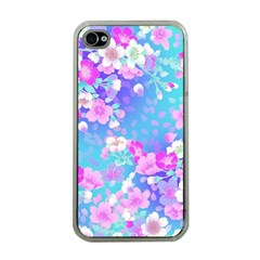 Flowers Cute Pattern Apple Iphone 4 Case (clear) by Nexatart
