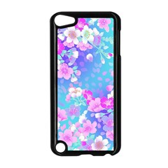 Flowers Cute Pattern Apple Ipod Touch 5 Case (black) by Nexatart