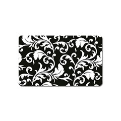 Black And White Floral Patterns Magnet (name Card) by Nexatart
