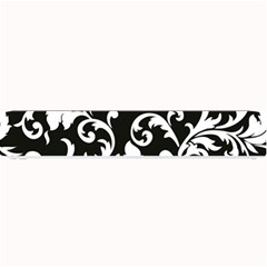 Black And White Floral Patterns Small Bar Mats by Nexatart