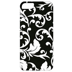 Black And White Floral Patterns Apple Iphone 5 Classic Hardshell Case