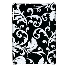 Black And White Floral Patterns Apple Ipad Mini Hardshell Case by Nexatart