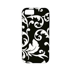 Black And White Floral Patterns Apple Iphone 5 Classic Hardshell Case (pc+silicone) by Nexatart