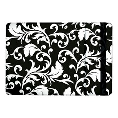 Black And White Floral Patterns Samsung Galaxy Tab Pro 10 1  Flip Case