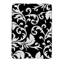 Black And White Floral Patterns Ipad Air 2 Hardshell Cases by Nexatart