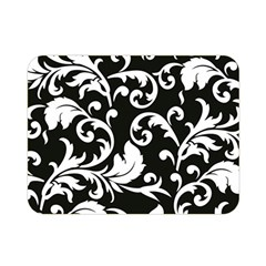 Black And White Floral Patterns Double Sided Flano Blanket (mini)  by Nexatart