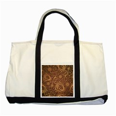 Gold And Brown Background Patterns Two Tone Tote Bag by Nexatart
