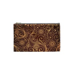 Gold And Brown Background Patterns Cosmetic Bag (small)