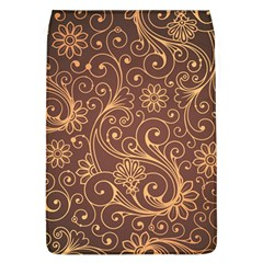 Gold And Brown Background Patterns Flap Covers (l)  by Nexatart