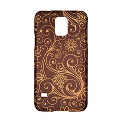 Gold And Brown Background Patterns Samsung Galaxy S5 Hardshell Case