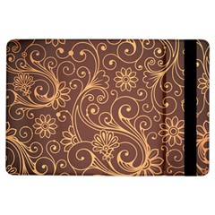 Gold And Brown Background Patterns Ipad Air Flip by Nexatart