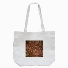 Gold And Brown Background Patterns Tote Bag (white) by Nexatart