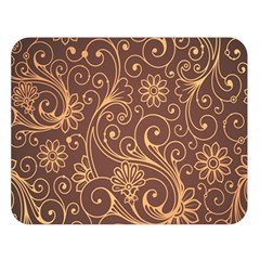 Gold And Brown Background Patterns Double Sided Flano Blanket (large)  by Nexatart
