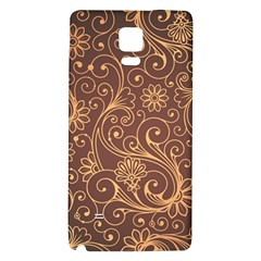 Gold And Brown Background Patterns Galaxy Note 4 Back Case