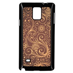 Gold And Brown Background Patterns Samsung Galaxy Note 4 Case (black) by Nexatart