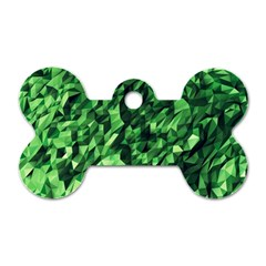 Green Attack Dog Tag Bone (two Sides) by Nexatart