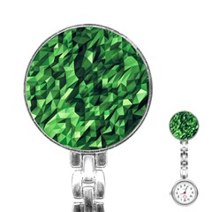 Green Attack Stainless Steel Nurses Watch by Nexatart