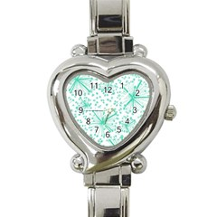 Pattern Floralgreen Heart Italian Charm Watch