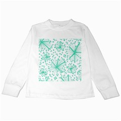 Pattern Floralgreen Kids Long Sleeve T Shirts