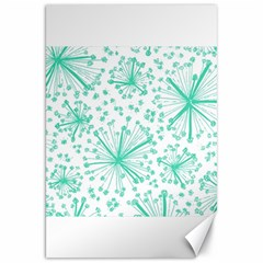 Pattern Floralgreen Canvas 20  X 30