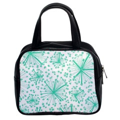 Pattern Floralgreen Classic Handbags (2 Sides) by Nexatart