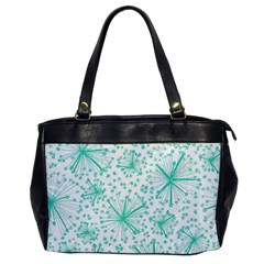 Pattern Floralgreen Office Handbags by Nexatart
