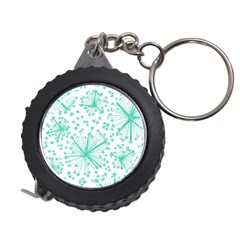 Pattern Floralgreen Measuring Tapes by Nexatart