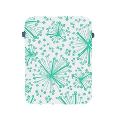 Pattern Floralgreen Apple Ipad 2/3/4 Protective Soft Cases by Nexatart