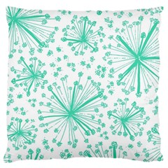 Pattern Floralgreen Standard Flano Cushion Case (two Sides) by Nexatart