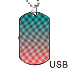 Art Patterns Dog Tag Usb Flash (two Sides) by Nexatart