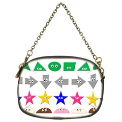 Cute Symbol Chain Purses (two Sides)
