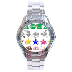 Cute Symbol Stainless Steel Analogue Watch