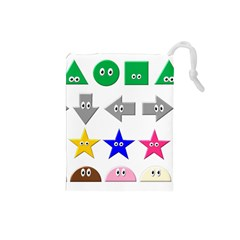 Cute Symbol Drawstring Pouches (small)  by Nexatart