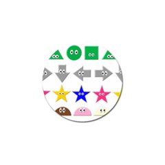 Cute Symbol Golf Ball Marker (10 Pack)