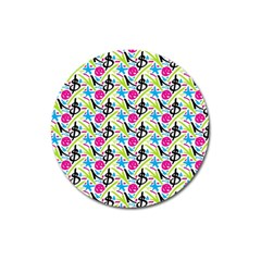 Cool Graffiti Patterns  Magnet 3  (round) by Nexatart