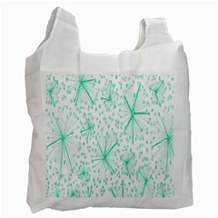 Pattern Floralgreen Recycle Bag (two Side)  by Nexatart