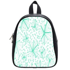 Pattern Floralgreen School Bags (small)