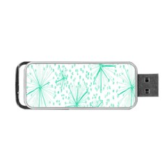 Pattern Floralgreen Portable Usb Flash (two Sides) by Nexatart