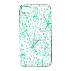 Pattern Floralgreen Apple Iphone 4/4s Hardshell Case With Stand by Nexatart