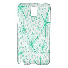 Pattern Floralgreen Samsung Galaxy Note 3 N9005 Hardshell Case by Nexatart